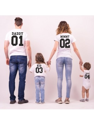 SET TRICOURI FAMILIE MOMMY DADDY BABY KID