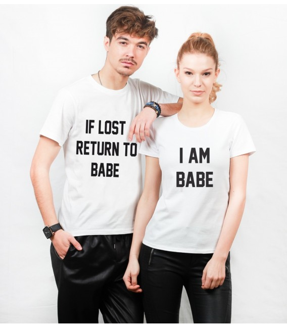 SET TRICOURI CUPLU PENTRU EL SI EA IF LOST RETURN TO BABE
