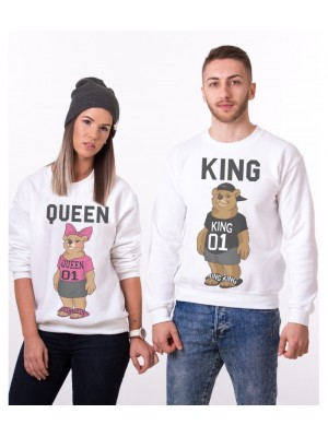 SET HANORACE GROASE CUPLU KING QUEEN TEDDY