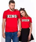 SET TRICOU CUPLU HER KING HIS QUEEN