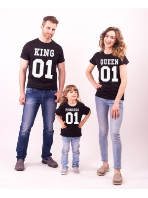 SET TRICOURI NEGRE KING QUEEN PRINCESS