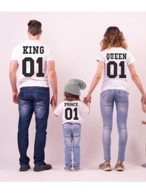 SET TRICOURI ALBE KING QUEEN PRINCE