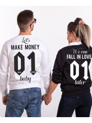 SET HANORACE PERSONALIZATE PENTRU CUPLURI MAKE MONEY FALL IN LOVE
