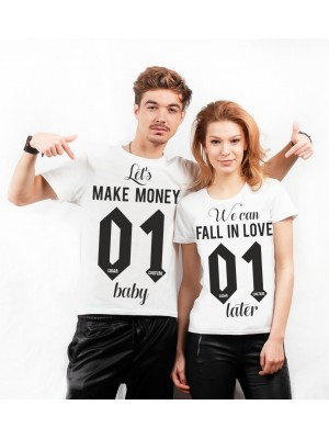 SET TRICOURI CUPLURI PERSONALIZATE LET MAKE MONEY FALL IN LOVE