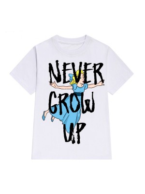 TRICOU LARG DAMA NEVER GROW UP