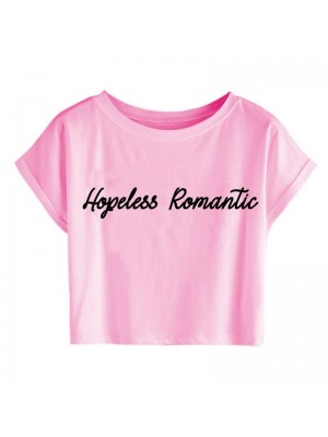 TRICOU SCURT DAMA HOPELESS ROMANTIC