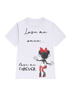 TRICOU LARG DAMA LOSE ME ONCE LOSE ME FOREVER