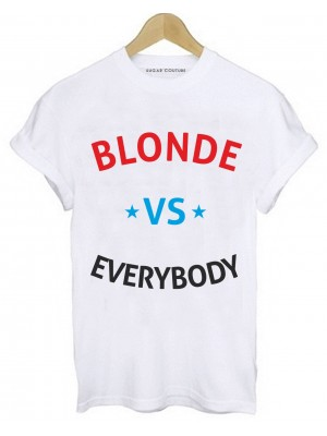TRICOU DAMA BLONDE VS EVERYBODY