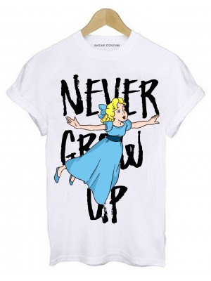 TRICOU DAMA NEVER GROW UP