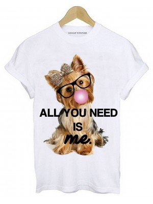 TRICOU DAMA ALL YOU NEED IS ME