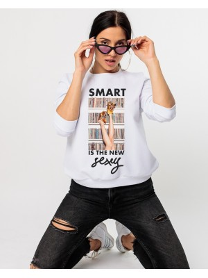 Bluza dama alba Smart is the new sexy
