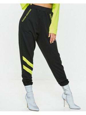 Pantaloni largi Neon Lights Galben