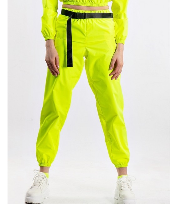 Pantaloni fas impermeabil neon galben Oops! I did it Again