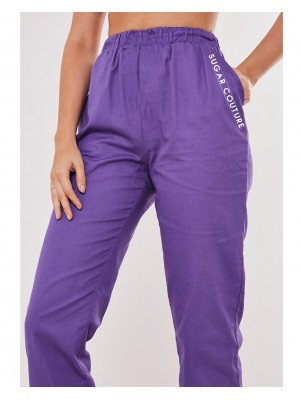 Pantaloni trening mov deschis Sugar Couture