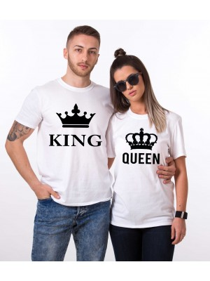 SET TRICOURI CUPLU KING QUEEN IMPRIMEU FATA